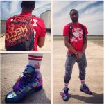 NBA Player John Wall Wears A Pyrex Vision Tee-Shirt & Jeremy Scott Wings Sneakers