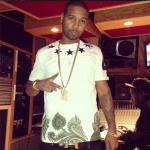 Juelz Santana Flexing In A $615 Givenchy Star-Embellished Printed Cotton Tee-Shirt & Hermes Belt