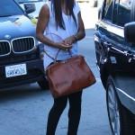 Kelly Rowland Shops It Up In $750 Giuseppe Zanotti Orange Peep Toe Platform Heels