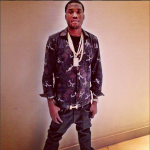 Meek Mill Styles In A $445 Givenchy Fighter Jet Paisley Print Shirt & Hermes Belt
