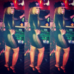 """Trina Shows Her Curves In A Paper Dolls 'Bad News Mesh' Dress & Giuseppe Zanotti """"Firewings"""" Sandals"""