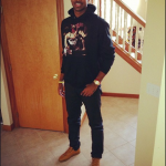 """Tristan Thomas Sports A Pyrex Vision """"The Entombment of Christ"""" Graphic Religion Hoodie & Balenciaga Sneakers"""