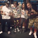 Wiz Khalifa Rocks A JoyRich Wall Street Big Tee Shirt Paired With The Matching Harem Pants In Black