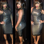 Memorial Day Weekend Fashion: Toya Wright In Christian Louboutin Opened-Toe Pumps & A Frida Kahlo Leather Dress