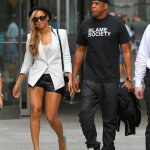 Main Attraction: Beyonce Wears A Helmut Lang Tailored Blazer Paired With Green Pumps