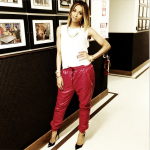 Fashion Trendsetter: Ciara In $1,400 En Noir Leather Sweatpant From The Menswear 2013 Collection