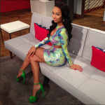 Draya Looks Cute In A Snakeskin Cutoff Dress By Malaika Lue Paired With Walter Steiger Double Platform Sandals