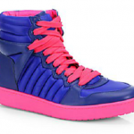 """Currently Obsessed With: $550 Gucci Hudson High-Top Sneakers """"Navy/Pink"""""""