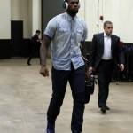 Dope Or Nope? LeBron James In A Denim-On-Denim Enesmble Paired With $545 Maree Balenciaga Arena Sneakers