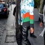 Solange Knowles Wears A $2,233 Etro Printed Silk Jacket & The Matching $543 Flower Print Shirt