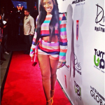 Yandy Smith In Olcay Gulsen & Yves Saint Laurent Paris During The 2013 BET Awards Weekend