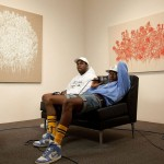 """A$AP Rocky Wears A Pyrex Vision Hoodie & Nike Dunk High SB Pro """"Supreme"""" Sneakers During An Interview"""