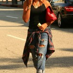 When Did She Wear It Better? Angela Simmons In $229 MIA Limited Edition Rocco Sandals With A Shirt Tied Around Her Waist