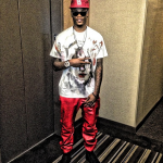 NBA Player Ben McLemore Styles In A Givnechy Tee, $560 PRSVR Luxury Red Track Pants & Christian Louboutin Sneakers