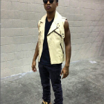 Jacob Latimore Pairs A $550 PRSVR Combination Cycle Jacket With $850 Giuseppe Zanotti Cracked Leather High-Top Sneakers