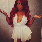 """A Red Hair K. Michelle Flaunts Her Goodies In A $71 """"K Michelle"""" Romper"""