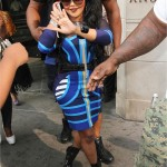 """Lil Kim In A Celeb Boutique's 'Mercy Blue Tribal Print Dress' & She Films """"Look Like Money"""" Visual With Kimbella"""
