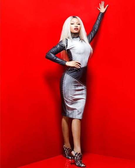 mcx-Nicki-Minaj-August-mag-gray-metallic-studded-dress-01-xln