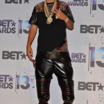 French Montana Attend The 2013 BET Awards In A Snakeskin Ensemble & Giuseppe Zanotti Sneakers
