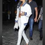 Rihanna Instagram'd A Roberto Cavalli Varsity Jacket