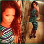 Rocsi Diaz Flaunts Her Summer Body In A Torn By Ronny Kobo Harlow Dress & Giuseppe Zanotti Cutout Sandals