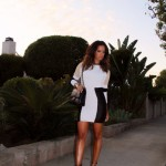 Rocsi Diaz Spotted Out On The Town In A $366 Torn by Ronny Kobo Maddie Dress & Rachel Roy Sandals