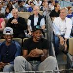 Chris Paul Wears A $115 Jack Spade Boorman Henley, $128 Shades Of Grey sweatpants & Air Jordan 1Mid Sneakers