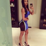Werk With Your Fine Self! Draya Parties In A Every Girlz Obsession Color-Blocked Two-Piece