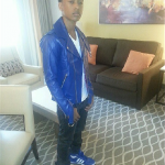 Fashion Me Dope: Jacob Latimore Wears A $550 PRSVR Combination Cycle Jacket & Adidas Sneakers