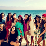 Christina Milian Shoots Viva Diva Wines Commercial In Malibu And Parties With Karruche & Rocsi Diaz