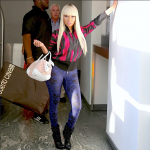 Nicki Minaj Shoots Visual In An $863 Vivienne Westwood Anglomania Apache Bomber Jacket, $685 Alexander McQueen Stained Glass Leggings & $1,995 Christian Louboutin Spike Wars Ankle Booties
