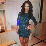 Rocsi Diaz Wears A $298 Torn By Ronny Kobo Tara Pleated Dress