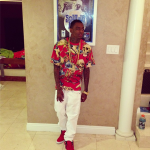 Soulja Boy Rocks A Rook Brand Shark Pattern Tee-Shirt