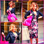 Adrienne Bailon Out & About In Zara And Topshop