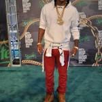 Rapper Future Rocks $1,115 Balmain Geometric Paneled Multi Pocket Biker Pants & Timberland Boots To The 2013 BET Hip Hop Awards