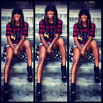 Kelly Rowland's Dope Girl Look In A $592 Givenchy Twin Doberman Print Tee-Shirt & $1,350 Giuseppe Zanotti Open-Toe Ankle Booties