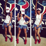 LeToya Luckett In Denim Daisy Dukes & Isabel Marant Sneakers