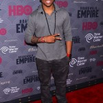 Tristan Mack Wilds Spotted In A $515 Givenchy Star Patched And Striped Back Bottom Long Sleeve Polo