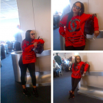 Tahiry's Around The Way Girl Look In A $150 Homme + Femme LA Coco Hockey Sweater & Air Jordan Infrared 6's