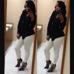 When Did She Wear It Better? Toya Wright In $1,350 Giuseppe Zanotti Calf Hair Cap-Toe 3-Strap Booties