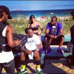 Juelz Santana & Cam'ron Films Reebok Commercial In Miami