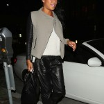 Cassie Wears Leather Joggers While Dining With Her Music Mogul Boyfriend Diddy In Beverly Hills