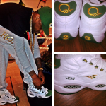 """Watch My Kicks: Fabolous In Packer Shoes x Reebok Question """"FOR PLAYER USE ONLY"""" Pack"""