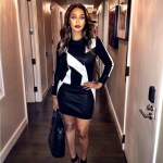 Lala Anthony Pairs A Iro Leather Dress With $765 Gianvito Rossi Ankle Strap Pumps