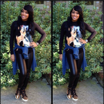 Monica Wears A $1,375 Givenchy Bambi And Female Form Print Sweater & Christian Louboutin Sneakers