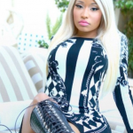 Nicki Minaj's $3,128 Balmain Mixed Print Plunging Back Dress