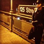 Swizz Beatz Spotted Wearing A $5,482 Balmain Geometric Leather Biker Jacket At The Train Station In Harlem