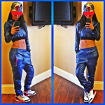 Teyana Taylor Flossing In A $420 PRSVR Cropped Pullover & $600 Luxury Track Pants