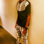 Trevor Jackson Styles In A DVMN Pigeon Snakeskin Tee-Shirt & Matching Joggers On '106 & Park'