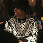 Lil Twist Rocks A $635 Kakon To Zai  Black & White Terrycloth Jacquard Tattoo Sweatshirt